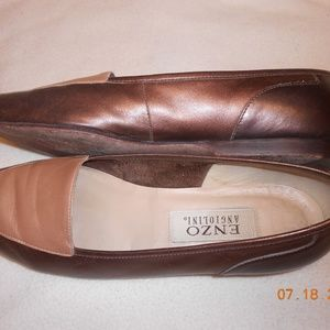cute Enzo Angiolini leather flats loafers size 8M